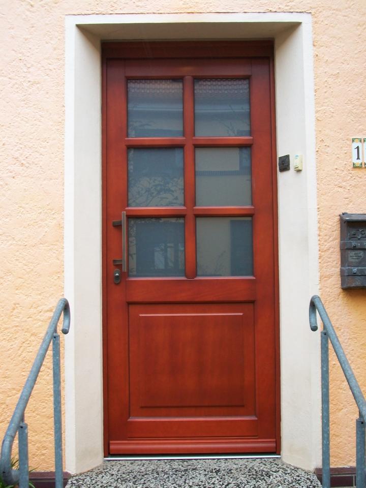 Haustür weiß sprossen  Haustüren aus Holz