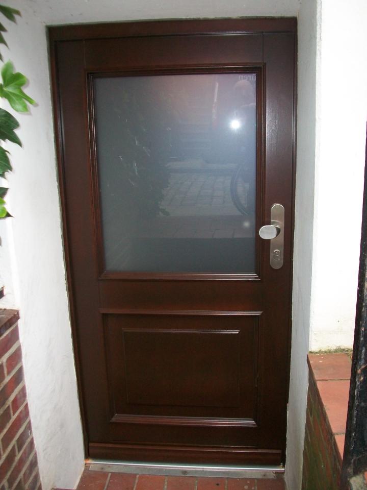 Haustür glas satiniert  Haustüren aus Holz
